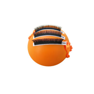 """Lash Bug"" soft hand attached eyelash extension holder palette orange"